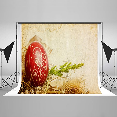 7x5Ft Custom Glitter Spring Easter Egg Ornaments Party Favors Photogrphy Backdrops Hand Drawing Art Sketch Easter Party Background Décor Curtain Studio Props With Cereals Cornfield Ripe Mature -