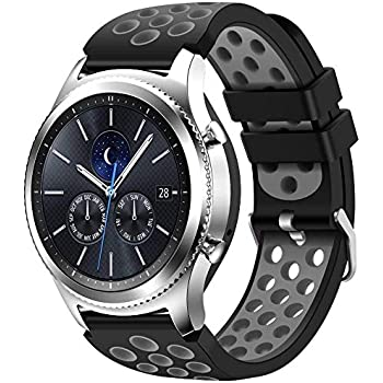 Amazon.com: Gear S3 Bands,Meifox Soft Silicone Replacement ...