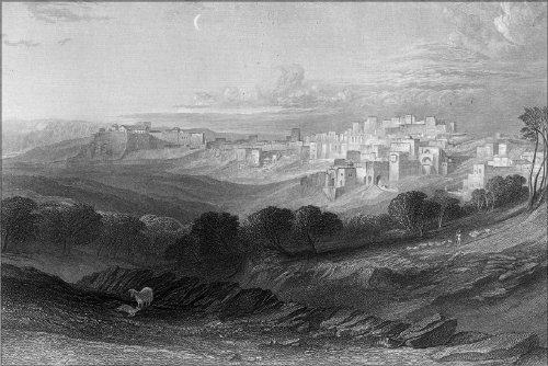Poster - Bethlehem Israel By William Miller From Bible Dictionary 1866