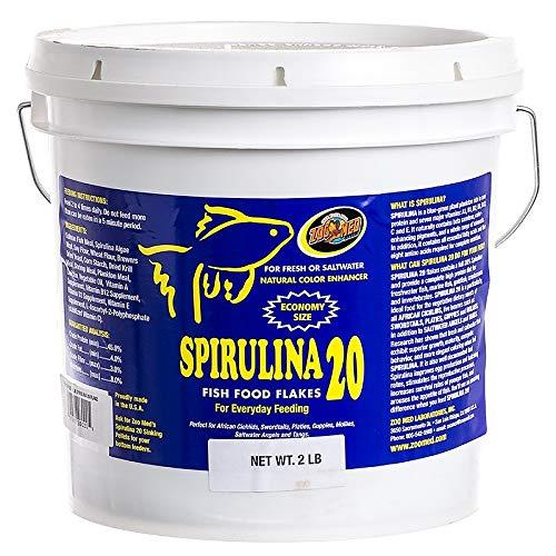 20 Zoo - Zoo Med Spirulina 20 Fish Food Flakes 2lbs