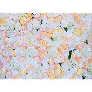 """ProPhotoConnect 48""""X 96"""" Artificial Silk Rose 3D Flower Wall Background Wedding Party Decor 16"""