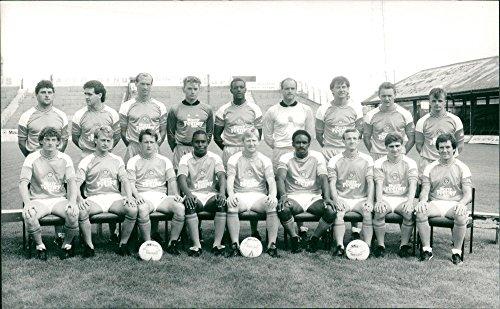 Vintage photo of Black Pool Footbals club team photo 1987.