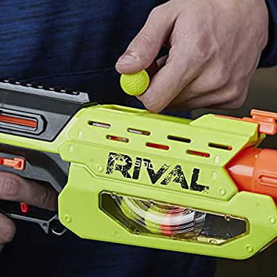 NERF Rival Mercury XIX-500 Edge Series Blaster with Target & 5 Rounds: Toys & Games