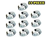 2'' Bore Solid Steel Zinc Plated Shaft Collar Set Screw Style (10 PCS)