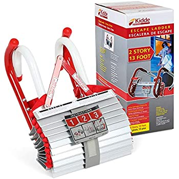 Kidde 468093KL-2S Two-Story Fire Escape Ladder with Anti-Slip Rungs, 13-Foot