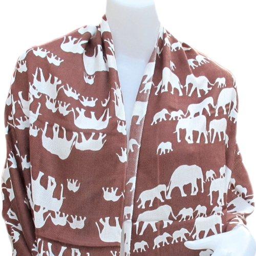 Éléphant magnifique écharpe châle Pashmina Plaid pour