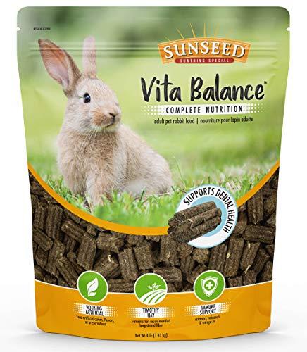 Sunseed 35996 Vita Balance Complete Nutrition Adult Pet Rabbit Food, 4 ()
