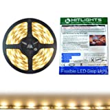 led strip rv - HitLights Weatherproof Warm White SMD5050 LED Light Strip - 150 LEDs, 16.4 Ft Roll, Cut to Length - 3000K, 123 Lumens per foot, IP65, Requires 12V DC