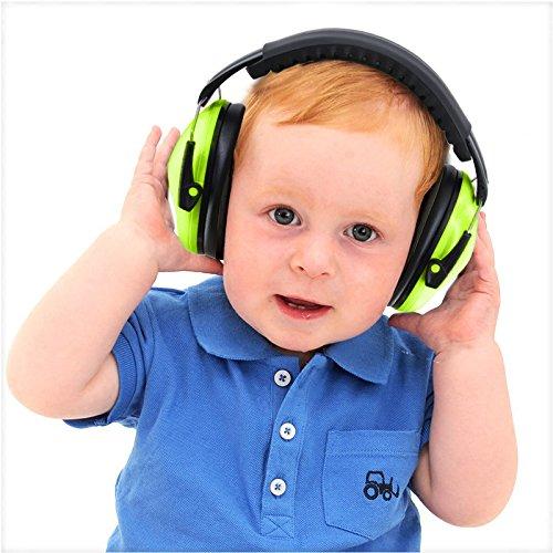 vert avec bandeau r/églable Produit id/éal pour prot/éger les oreilles des plus petits Casque anti-bruit pour enfants compact et pliable