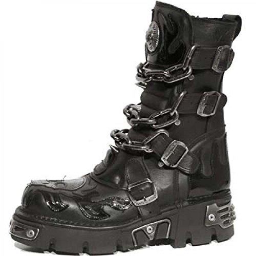 New Rock Boots M.724-c3 Gotico Hardrock Punk Unisex Stiefel Schwarz