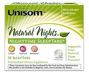 Unisom Natural Nights Sleep Tablets, 30 Count
