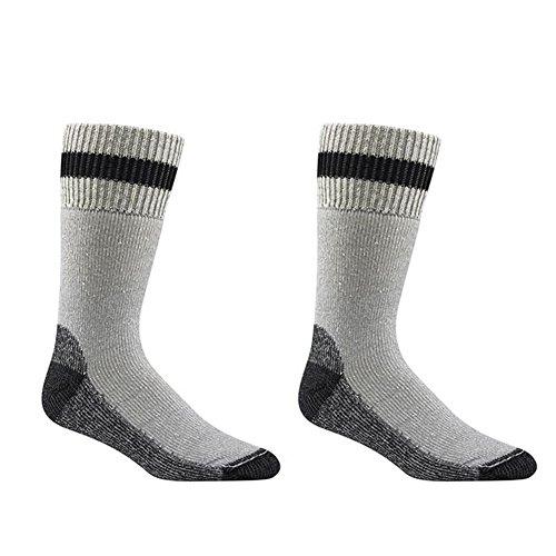 Fusion Apparel Wigwam Unisex Diabetic Thermal Crew Socks Bundle Grey/Black XL (2 Pack)