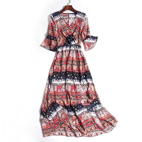 MiGMV Split de Femmes Fourche Couleur Longue Mousseline Longue Jupe en Robes de S de Plage Porter de de l't Jupe l'image Antique Robe ptxwpYrPRq