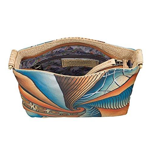 Greenland NATURE Art + Craft borsa a tracolla pelle 16 cm multicolore