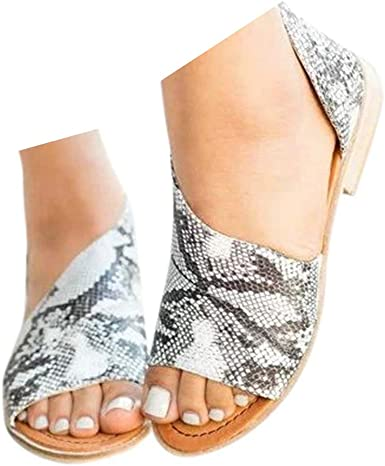 closed toe open heel flats