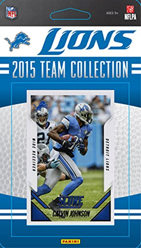 (Detroit Lions 2015 Score Factory Sealed NFL Football Complete Mint 11 Card Team Set with Matthew Stafford Calvin Johnson Ameer Abdullah Rookie Plus )
