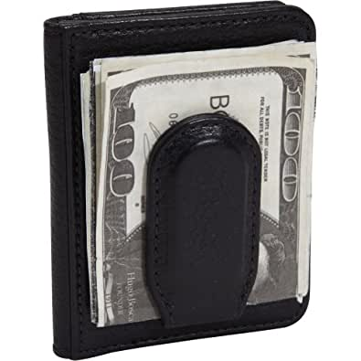 Bosca Tribeca Collection Front Pocket Wallet with Magnetic Clip Black