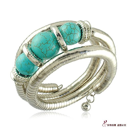 Thailand, Southeast Asia travel photography Jewelry snake bone style turquoise bracelet bracelet jewelry bracelet - Turquoise Snake Bracelets