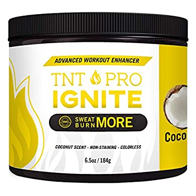 Fat Burning Cream for Belly Coconut Scented - TNT Pro Ignite Sweat Cream for Men and Women - Thermogenic Weight Loss Workout Slimming Workout Enhancer (6.5 oz Jar)