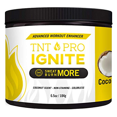 Fat Burning Cream for Belly Coconut Scented - TNT Pro Ignite Sweat Cream for Men and Women - Thermogenic Weight Loss Workout Slimming Workout Enhancer (6.5 oz Jar) (Nothing To Lose Your Love To Win)