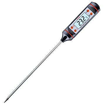 Termómetro de cocina, yica Digital Termómetro presupuesto Thermomete inmediato de Leer con larga Sonda,