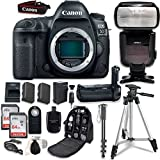 Canon EOS 5D Mark IV DSLR Body - With Canon BG-E20 Battery Grip + Professional Accessory Bundle (14 items)