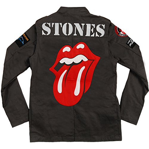 Rolling Stones Adult Military Jacket - Black (Medium) by Rolling Stones (Image #2)