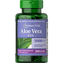 Puritan's Pride Aloe Vera Extract 5000 mg-200 Softgels
