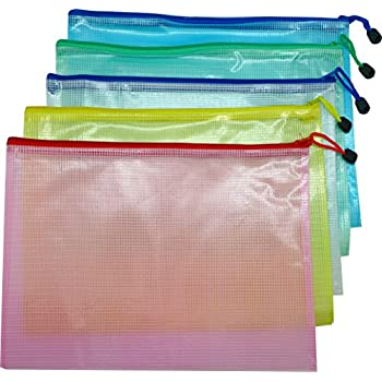 Amazon Com Zippered File Bags 6 Pcs File Folder Pouch