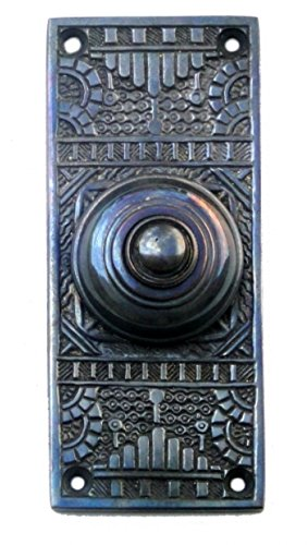 Victorian Vintage Replica Door Bell Button Electric Bronze (Bronze Victorian Door)