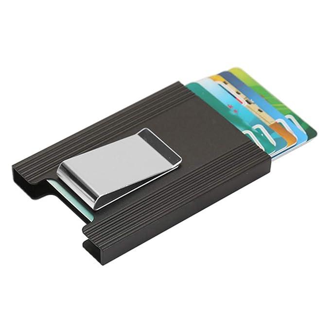 Amazon.com: Funda de aluminio para tarjeta RFID con fuerte ...