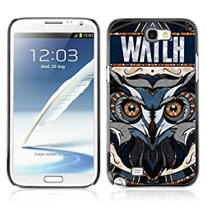 Designer Depo Hard Protection Case for Samsung Galaxy Note 2 N7100 / Awesome OWL Pattern Tattoo