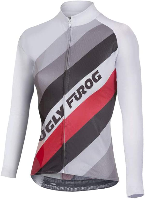 Uglyfrog Maillot v/élo Femme Maillot de v/élo Printemps Automne Respirant Maillot de Cyclisme V/élo /à Manches Longues Femmes Running de Cyclisme /à Manches Longues T-Shirt Fonctionnel
