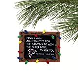 NFL Atlanta Falcons Resin Chalkboard Sign Ornament, Black, One Size