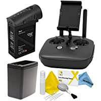DJI Inspire 1 Black Edition Accessory Kit: Includes Remote Controller (Black) + TB47 Battery (Black) + Battery Heater (Black) + eDigitalUSA Cleaning Kit