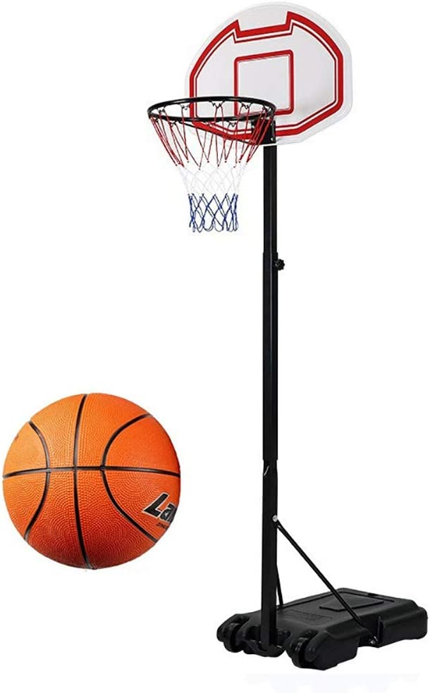 Kid Free Standing Basketball Hoop Net Backboard Stand Set Adjustable Portable