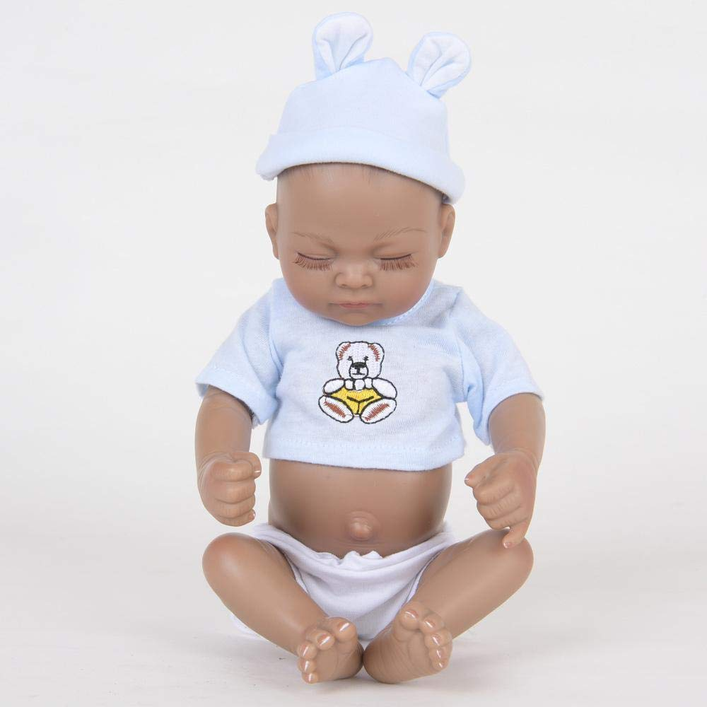 Hongge Reborn Baby Doll,Lebensechte Silikon Reborn Puppe Spielzeug Sieht Sieht Sieht real Newborn Puppe Spielzeug Geschenk 28cm 0853ca