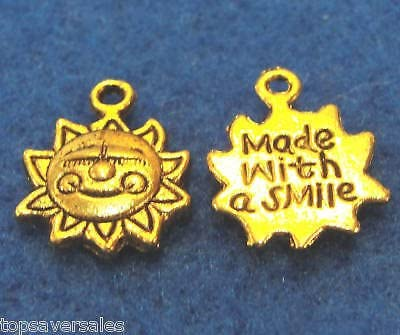 Moon smile Pendants 10pcs Antique Jewelry Findings,Charms,Pendants