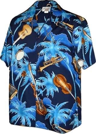 Jazzy Ukulele Hawaiian Shirt - Mens Hawaiian Shirts