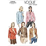 Vogue Patterns V7975 Size D 12-14-16 Misses' Petite Jacket