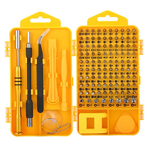 Screwdriver Tool Set, M.Way 108 in 1 Precision Screwdriver Set Multi-function Magnetic Tool Kit for iPhone X, 8, 7 below / Phone / Computer / Tablet / Xbox / PlayStation / electronic ()