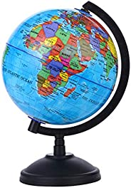 5.57 Inches English Globe with Stand 360 Degree Rotation Geography Teaching Globe Adults Children Discovery Le