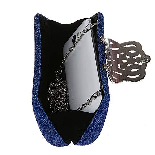 De De Dames À Perle Glitter Soirée Sac Femmes De Mariage Faux Pochette Main De De À Perlé en 10 Sac De Main Sac Strass Mariage Blue Sac Multicolore XRKZ Blue Bal CM 5 Option De 18 Z7vqWRn7