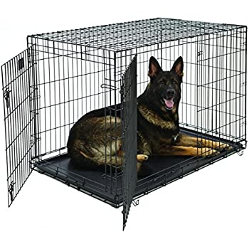 Extra Large Dog Crate With Metal Pan