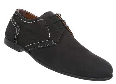 Herren Schnürschuhe, schwarz, 40