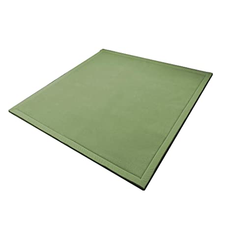 Alfombrillas gruesas de tatami para el dormitorio, sala de estar, yoga, juegos de cangrejos, sofá de mesa de té, 78,7 x 198,1 cm verde