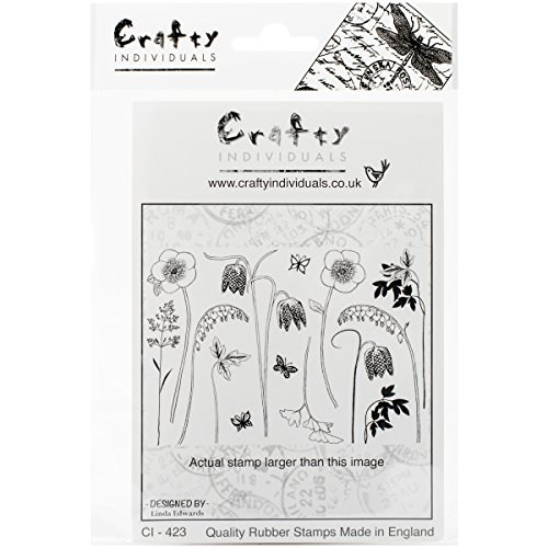 - Crafty Individuals Unmounted Rubber Stamp, 4.75 by 7-Inch, Build a Spring Flower Garden
