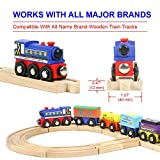 Tiny Conductors 12 Wooden Train Cars, 1 Bonus