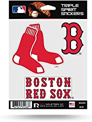 MLB Rico Red Sox Triple Spirit Stickers, Multi (MSS3901), One Size