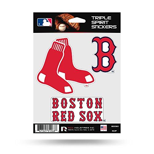 Boston Red Sox Triple Sticker Multi Decal Spirit Sheet Auto Home Baseball